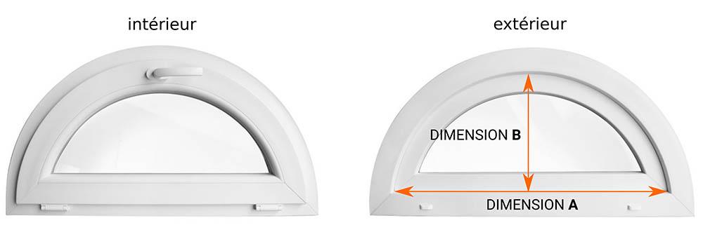 Dimensions du moustiquaire